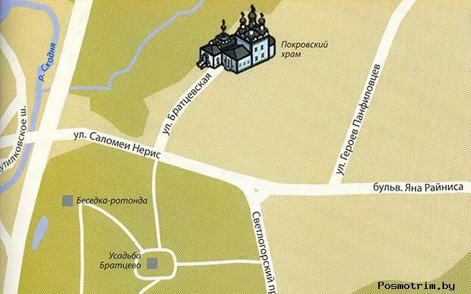 Храм Покрова Пресвятой Богородицы в Братцево расписание богослужений контакты как добраться раксположение на карте