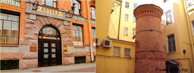 Аптека Пеля и Башня грифонов в Санкт-Петербурге