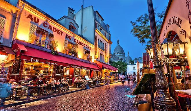 История квартала Монмартр в Париже
