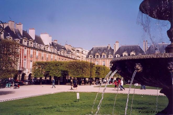 Расположение площади Вогезов на карте Парижа как добраться самостоятельно