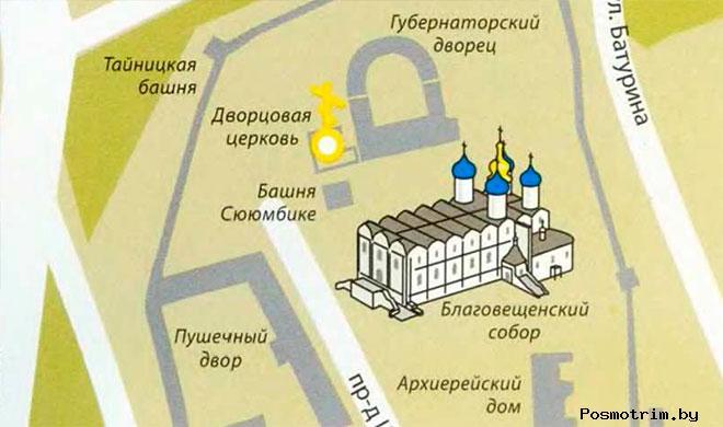 Казанский Благовещенский собор богослужения контакты как добраться расположение на карте