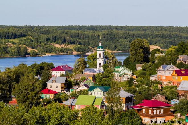 Плес достопримечательности фото описание Костромская область