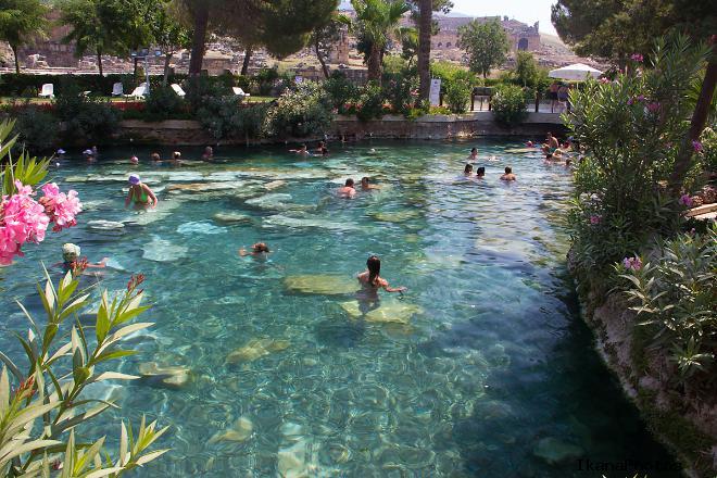 Бассейн Клеопатры в Памуккале Турция фото экскурсия
