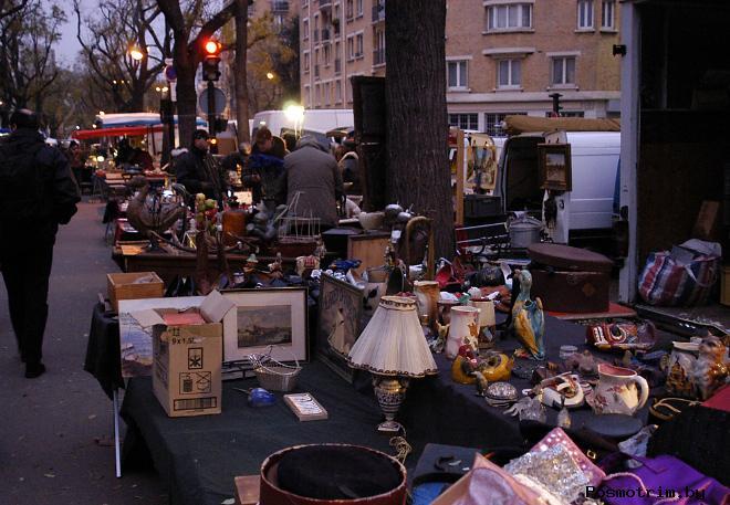 «Живые» блошиные рынки Парижа