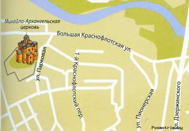 Церковь Михаила Архангела Смоленск богослужения контакты как добраться расположение на карте
