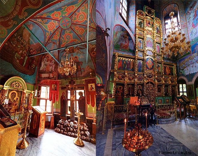 Внутри храма Бориса и Глеба в Зюзино