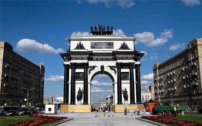 Триумфальные ворота у Тверской заставы Москва