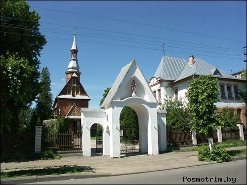 Расположение Костела Воздвижения Святого Креста