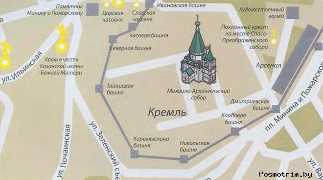Михайло-Архангельский собор Нижнего Новгорода богослужения контакты как добраться расположение на карте