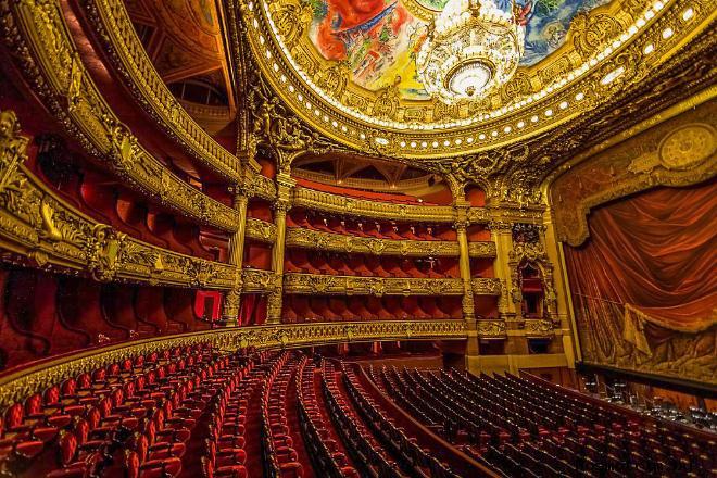 Интерьер театра Гранд Опера в Париже