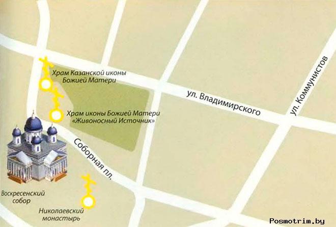 Воскресенский собор Арзамас расписание богослужений контакты как добраться расположение на карте