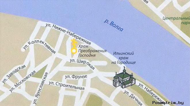 Ильинский храм на Городище Кострома богослужения контакты как добраться расположение на карте