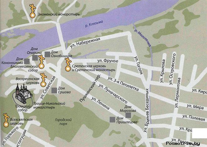 Никольский монастырь Гороховец богослужения контакты как добраться расположение на карте