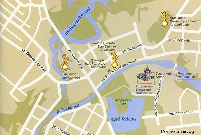 Тихвинский монастырь богослужения контакты как добраться расположение на карте