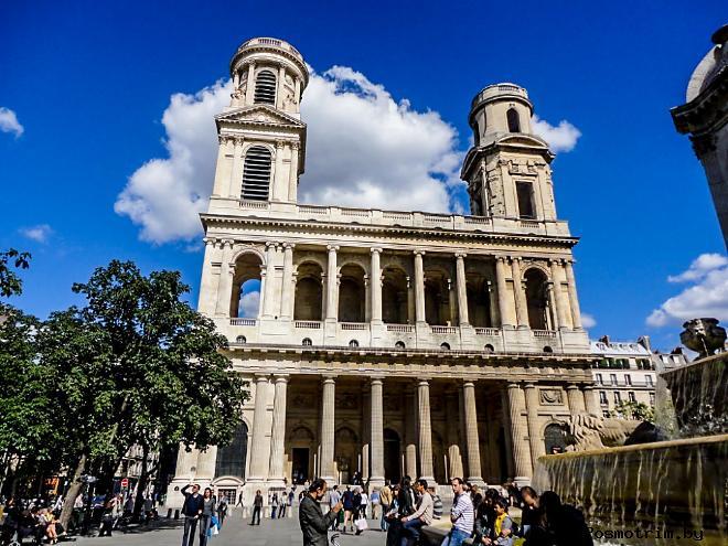Церковь Сен-Сюльпис в Париже (Eglise de Saint-Sulpice)
