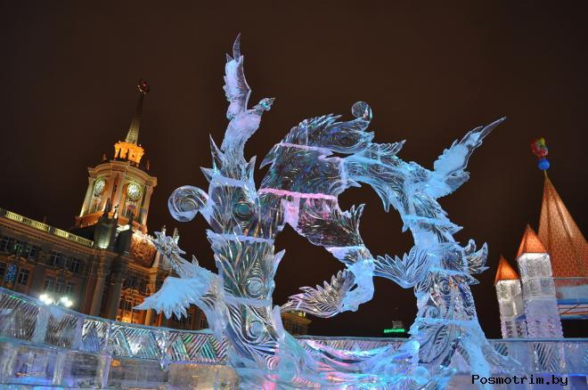 Фестиваль ледяных скульптур в Екатеринбурге