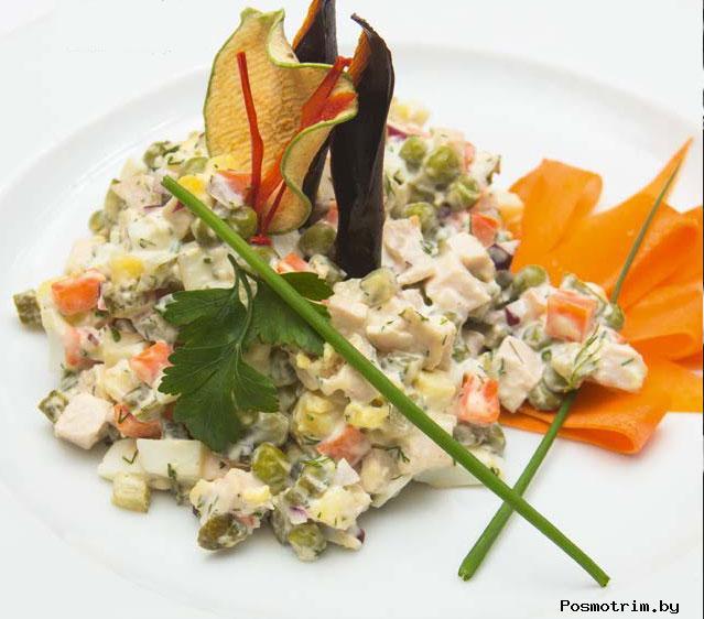 Рецепт салата «Оливье» от Иньяцио Роза