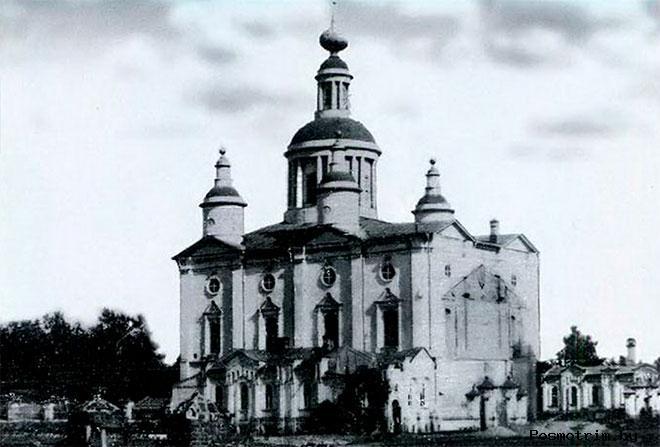 Строительство каменного Спасо-Преображенского собора в Тамбове