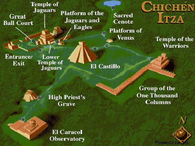 Пирамиды Чичен-Ица расположение на карте Мексики