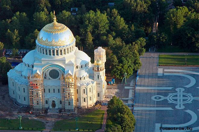 Строительство Морского собора Кронштадта