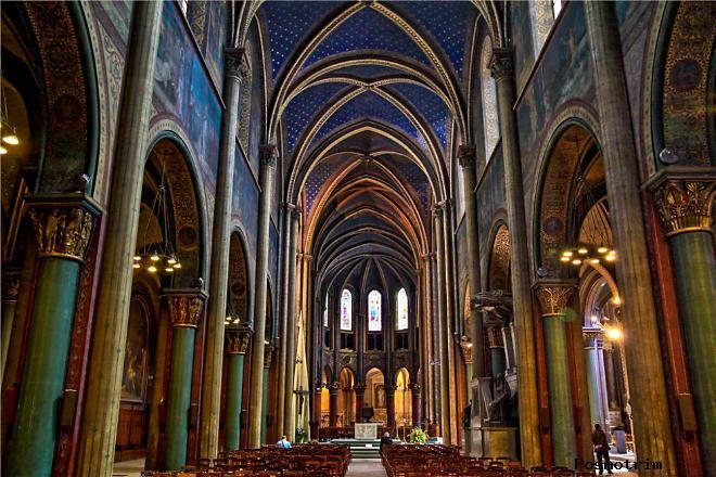 Расположение церкви Сен-Жермен-де-Пре на карте Парижа как добраться самостоятельно