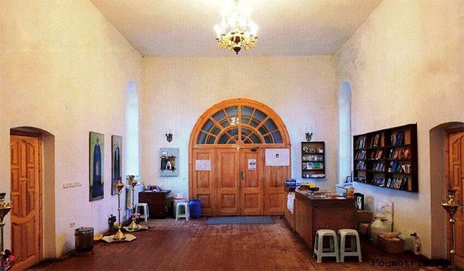 Внутри Федоровской церкви