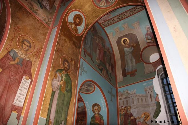 Георгиевский собор Новгорода внутри