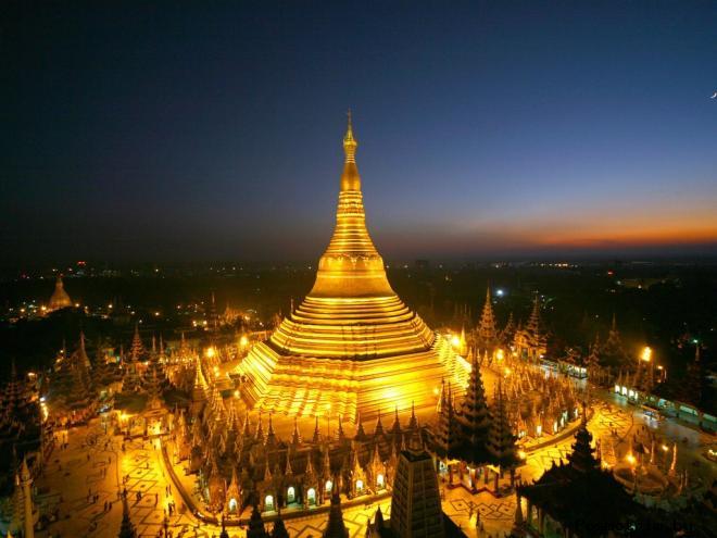 Золотая Пагода Шведагон Тайланд