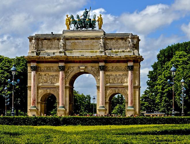 Расположение Триумфальной арки на карте Парида, адрес, как добраться самостоятельно
