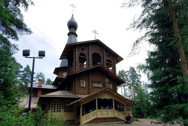 Строительство Казанского храма в Вырице