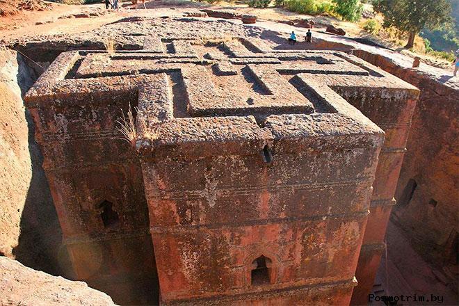Скальные церкви Лалибелы Эфиопия