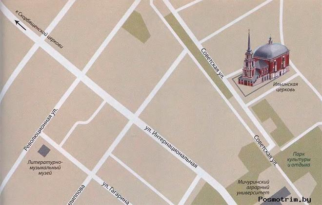 Ильинский храм Мичуринска богослужения контакты как добраться расположение на карте