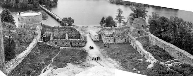 Тракайский замок упадок и реставрация замка в Тракае