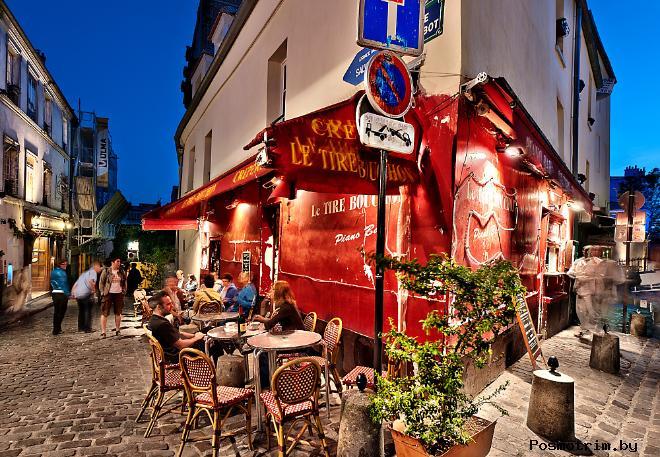 Расположение площади Тертр в Париже