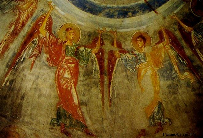 Фрески Георгиевской церкви Старой Ладоги