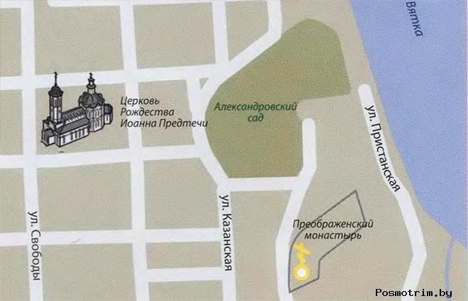 Храм Иоанна Предтечи в Кирове богослужения контакты как добраться расположение на карте
