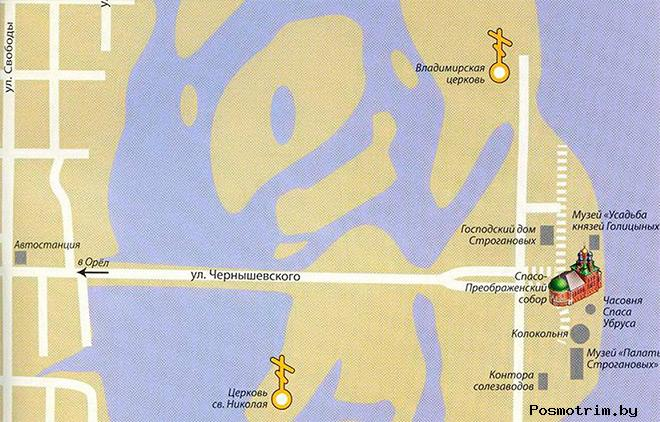 Преображенский собор Усолье богослужения контакты как добраться расположение на карте