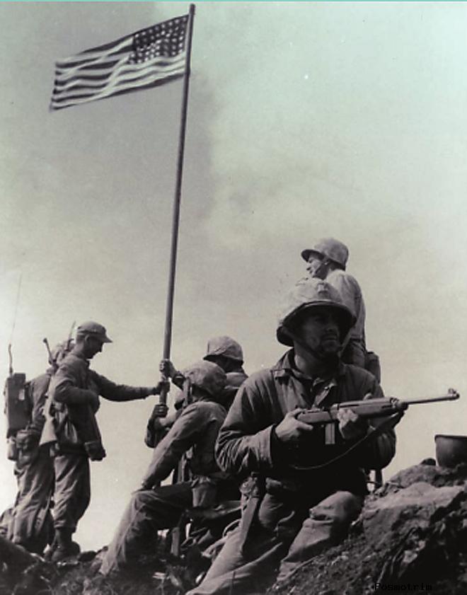 Иводзима 1945 год Взятие высрты