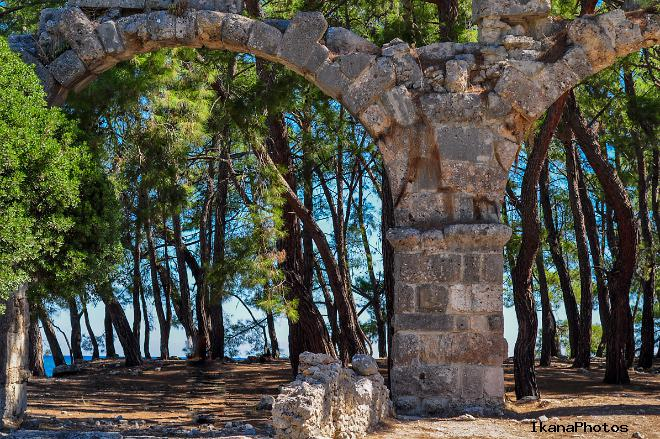 История Античного города Фазелис недалеко от курорта Кемер в Турции