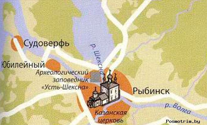 Казанская церковь Рыбинск богослужения контакты как добраться расположение на карте