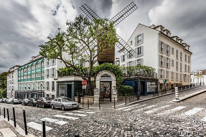 Как добраться самостоятельно до квартала Монмартр в Париже расположение на карте Парижа