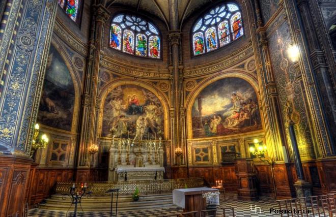 Интерьер Церкви Ла-Мадлен