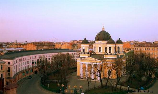 Строительство Преображенского собора Петербурга