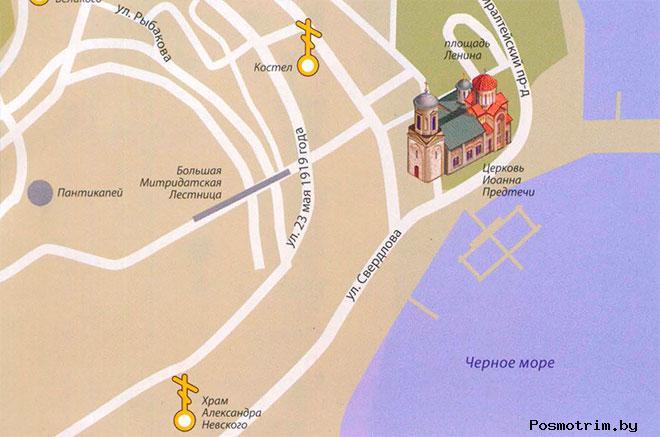 Храм Иоанна Предтечи Керчь расписание богослужений контакты как добраться расположение на карте