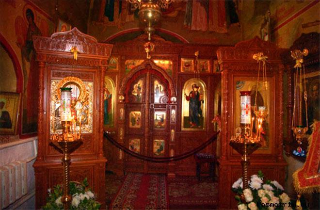 Внутри храма Сергия Радонежского в Комягино