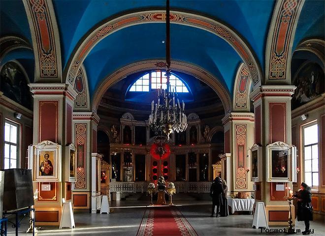 Внутри Спасо-Преображенского собора в Выборге