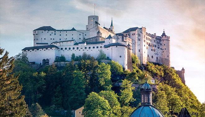 Замок-крепость Хоэнзальцбург Австрия