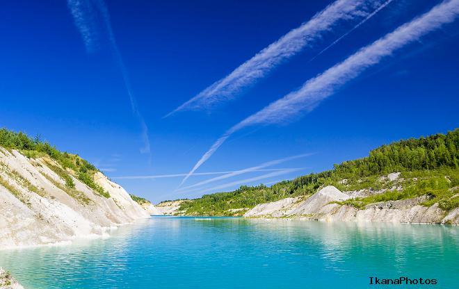 Красносельские меловые озёра в Беларуси
