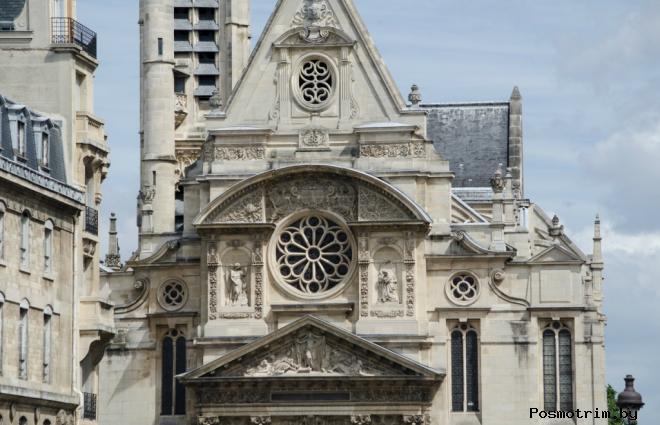 Расположение церкви Сент-Этьен-дю-Мон на карте Парижа как добраться самостоятельно