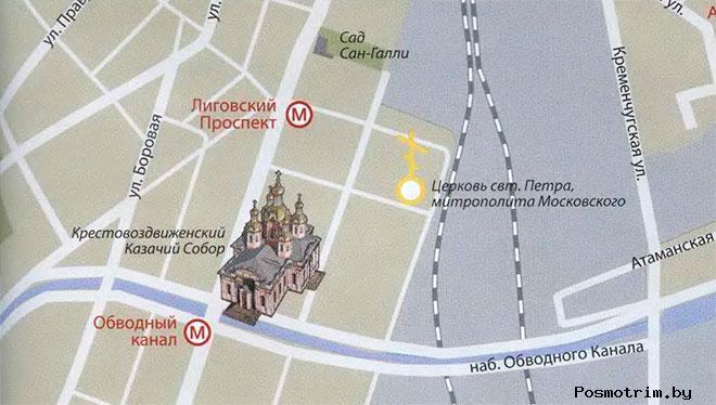 Крестовоздвиженский собор Санкт-Петербурга богослужения контакты как добраться расположение  на карте